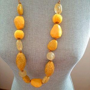 Vintage Large Gemstones Necklace